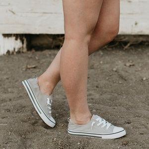 Grey Slip On Womens Tennis Shoes